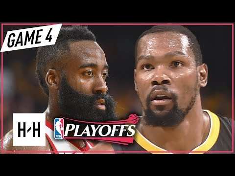 Kevin Durant vs James Harden Full Game 4 Highlights Rockets vs Warriors 2018 NBA Playoffs WCF