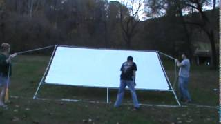 "16 By 10 Foot 226"" Outdoor Backyard Movie Theater Screen Construction And Tutorial Build 16' X 10'"