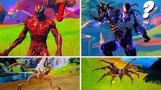 Fortnite Season 8 Carnage & Venom Mythic Symbiote Weapons Location Guide (Boss Carnage & Venom?)