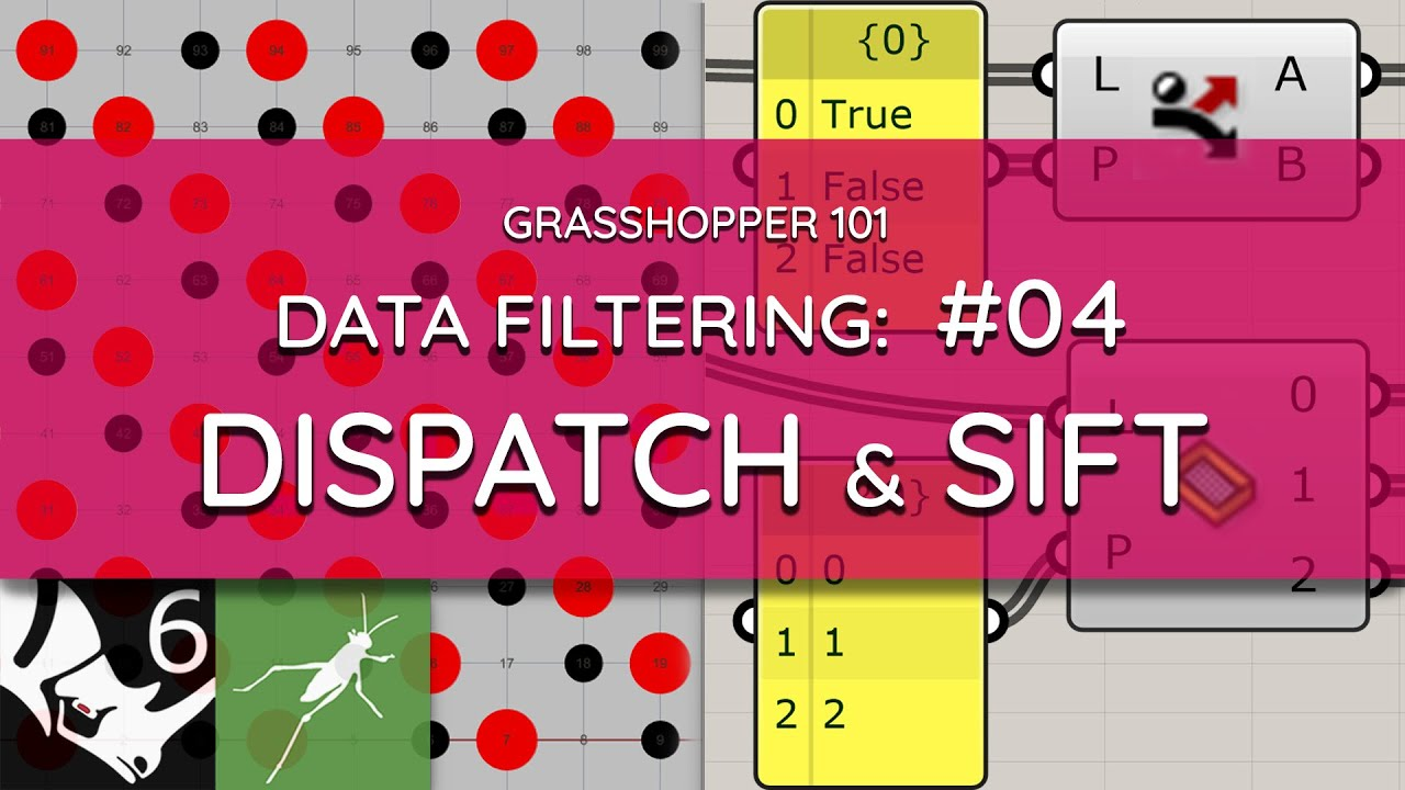 Grasshopper 101: Data Filtering   #04 Dispatch & Sift Pattern