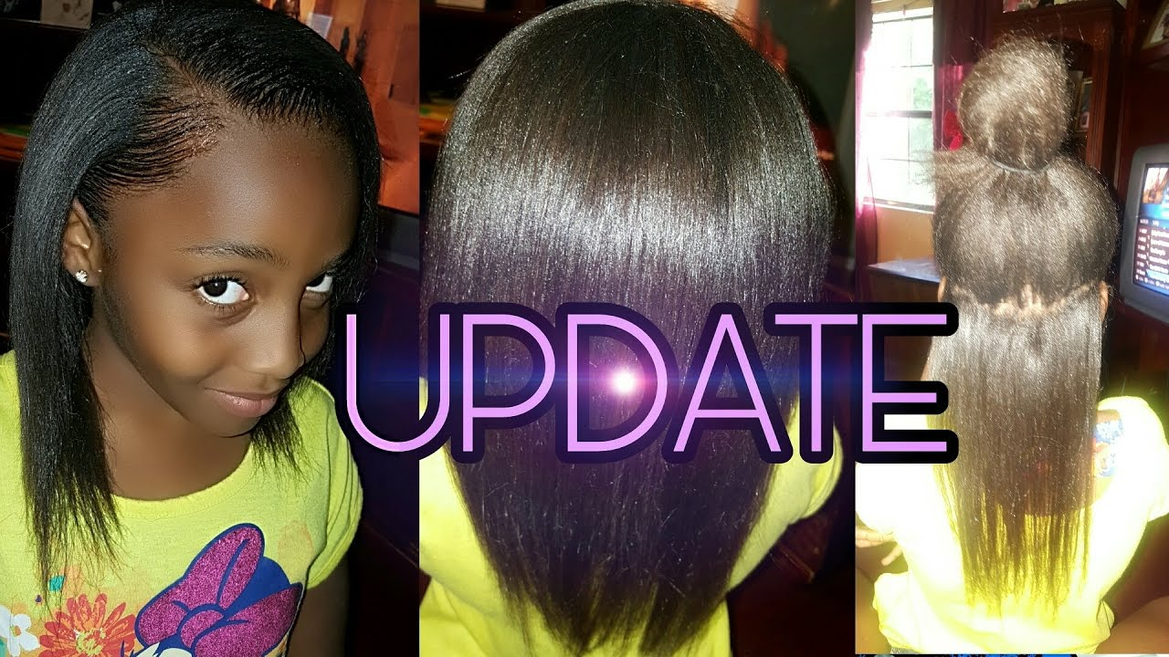 Kids Natural Hair Care Update Relaxer And Length Check