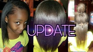 KIDS NATURAL HAIR CARE UPDATE | RELAXER AND LENGTH CHECK