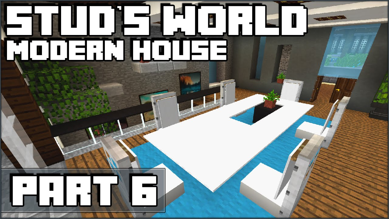 Minecraft Kitchen and Dining Table - Stud's World - 70 ...