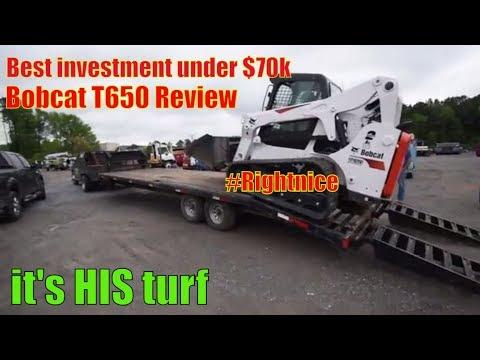 2018 Bobcat T650 Skid loader : Heavy Equipment Review - YouTube