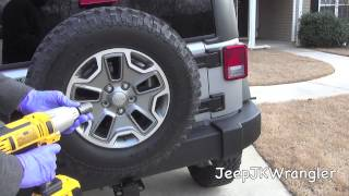How to perform a 5 tire rotation on a Jeep Wrangler JK