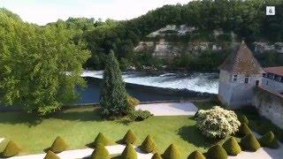 Château de Lustrac et son Moulin (Trentels, Lote-t-garonne, FRANCE) par drone BEBOP 2 PARROT