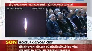 Göktürk 2 Fırlatma Anı ve Recep Tayyip Erdoğanın Konuşması
