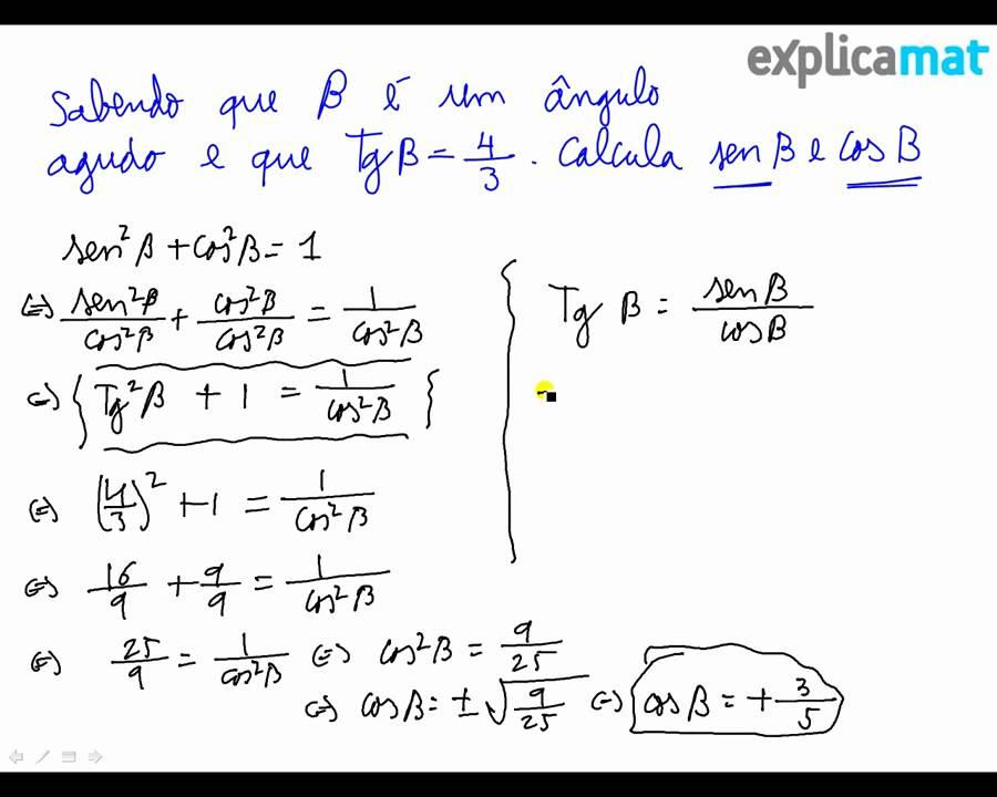 Amado Trigonometria Fórmulas do Seno Coseno Tangente - YouTube SJ55