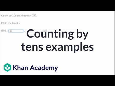 Counting By Tens Examples | Addition And Subtraction Within 100 | Early Math | Khan Academy