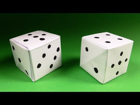 How to Make an Origami Dice - Paper Dice - Step by Step Instructions. Tutorial - DIY
