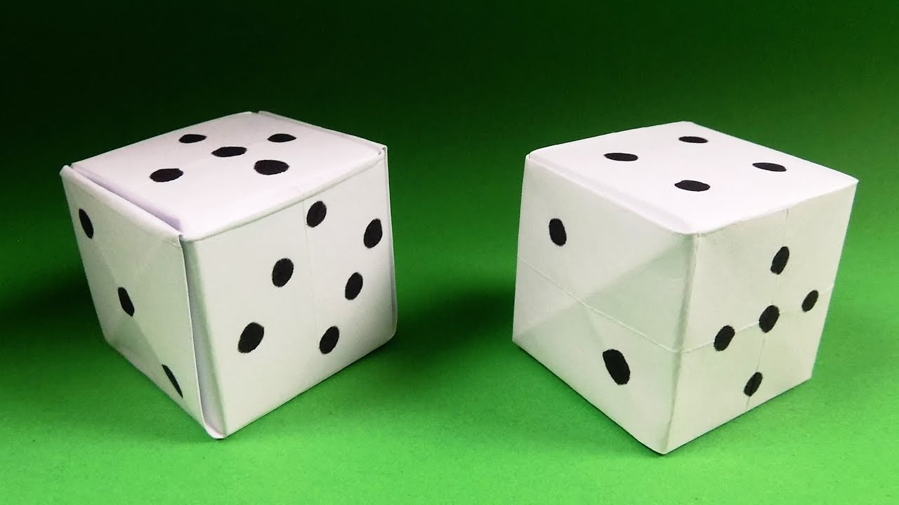 How To Make An Origami Dice Paper Dice Step By Step Instructions