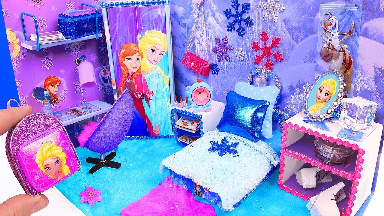 ITS KIDS ZONE DIY Miniature Doll Bedroom for Disney
