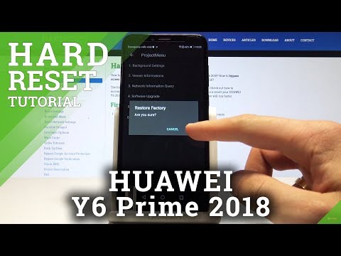 How to Hard Reset HUAWEI Y6 Prime 2018 - Reset Code / Factory Reset
