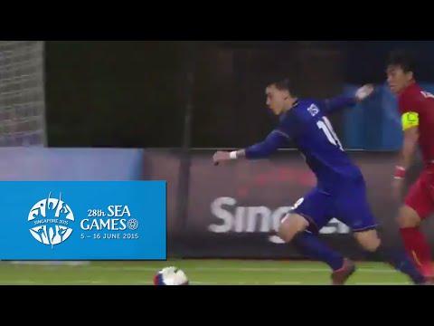 Football (Day 5) Full-Time Highlights Vietnam vs Thailand | 28th SEA Games Singapore 2015