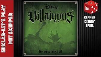 Disney Villainous - Erklär Let's Play mit Skipper (2 Spieler: Ursula vs. Prinz John) deutsch