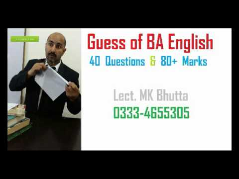 ba english hons guess paper The university of rajasthan (uniraj) is to release shortly model guess papers for under graduate ba / bsc / bcom (honours / pass) course for the affiliate colleges and students therefore, we are watching out for rajasthan university controller of examinations' upcoming notices in this regard.