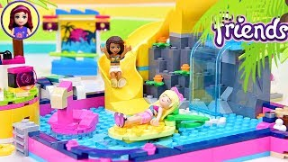 Does Heartlake City REALLY need another pool? Lego Friends Andrea's Pool Party Build