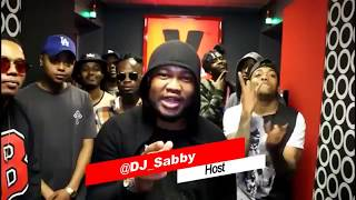 A-reece and the wrecking crew explain why they were late for an interview. dj sabby yfm team didnt sound too happ about it. crew...