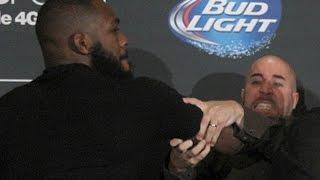 Jon Jones and Daniel Cormier Brawl  (Complete Fight) thumbnail