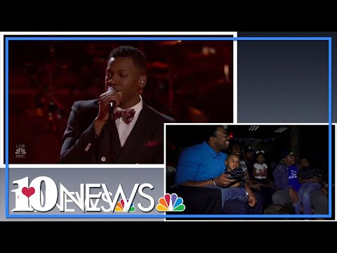 Chris Blue's family watches his Voice Live Playoffs performance