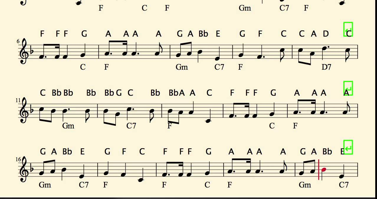 Oh Christmas Tree Piano Letter Notes