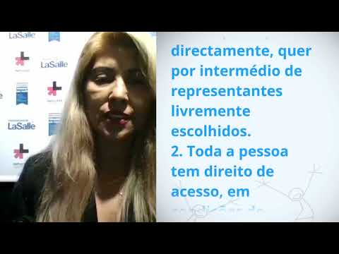 Maria Regina Da Conceio Monteiro, Brazil, reading article 21 of the Universal Declaration of Human R