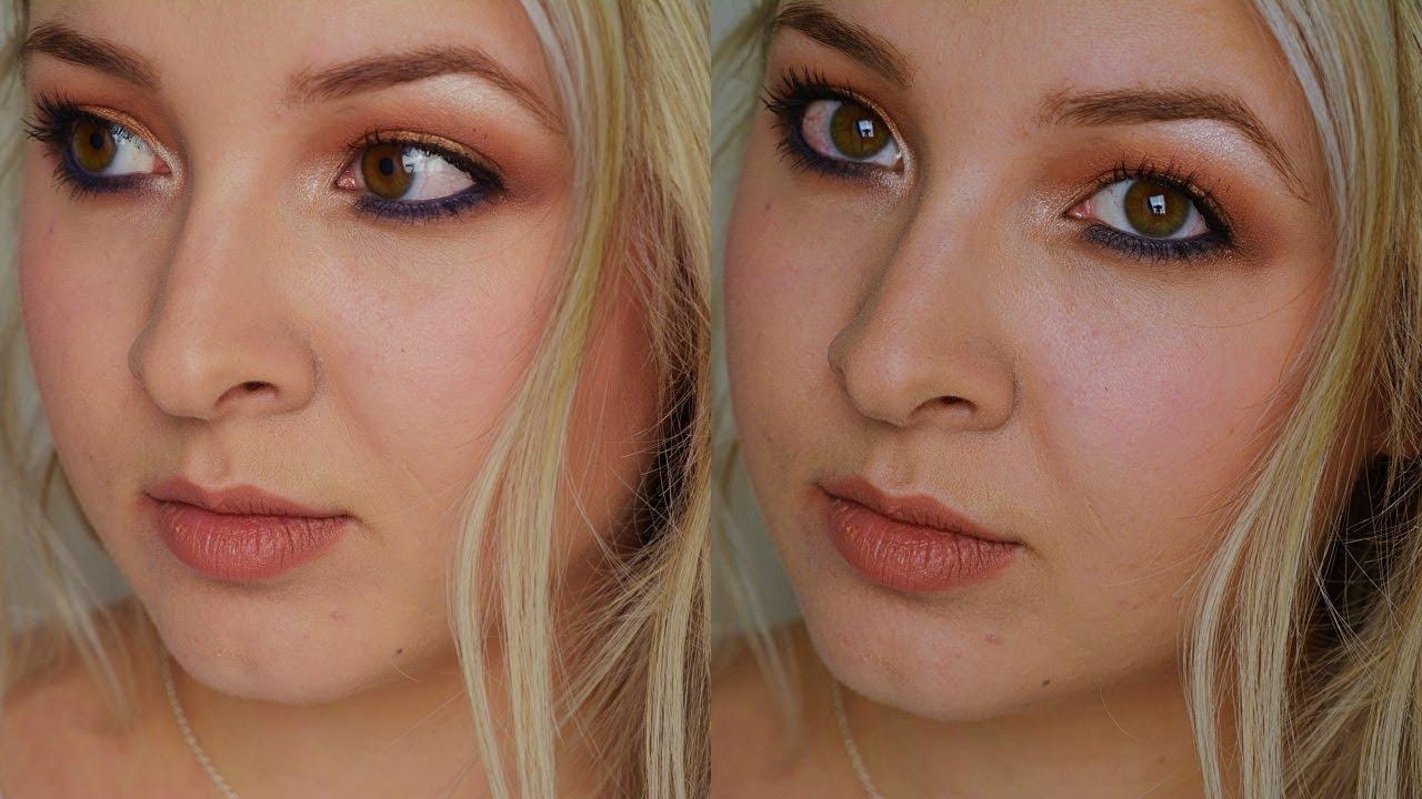 Maquillage Orangé Bleu pour les yeux marrons. Blonde \u0026 Nancéienne