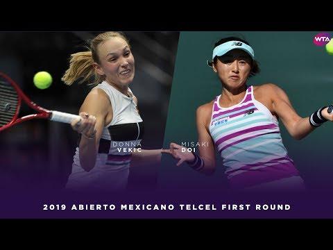 Donna Vekic vs. Misaki Doi | 2019 Acapulco First Round | WTA Highlights