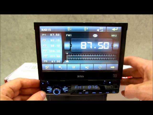 Boss In Dash DVD Receiver Review BV9967B with bluetooth - YouTube