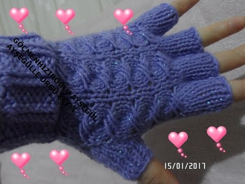 en kolay örgü parmaksız eldiven nasıl yapılır / kolay örgü modelleri / Figen Ararat