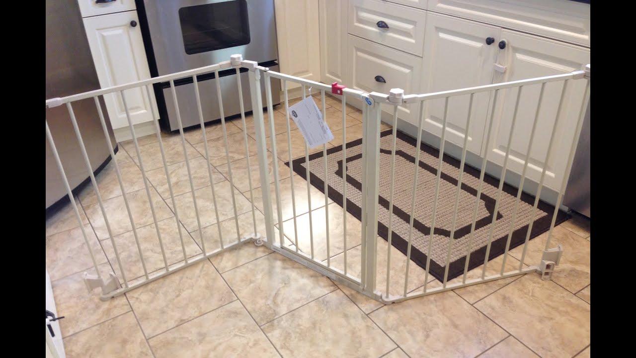 regalo super wide 76 configurable baby gate review youtube. Black Bedroom Furniture Sets. Home Design Ideas