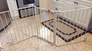 "I bought this 76"" baby gate thinking it was very convenient. You can configure this gate in different ways and it covers a very wide"
