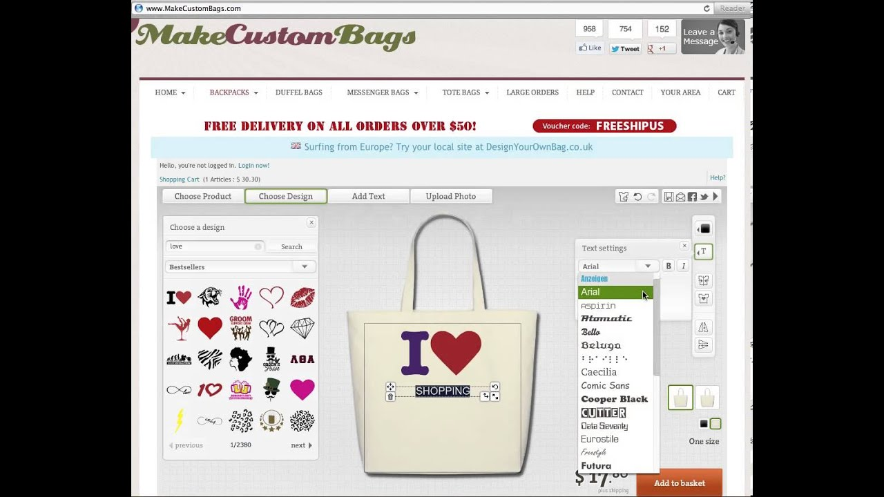 Custom Bags Design Your Own Online