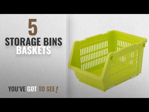 top-10-storage-bins-baskets-[2018]:-house-of-quirk-plastic-kitchen-vegetable-fruit-stackable-basket
