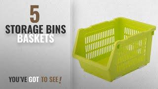 Top 10 Storage Bins Baskets [2018]: House of Quirk Plastic Kitchen Vegetable Fruit Stackable Basket