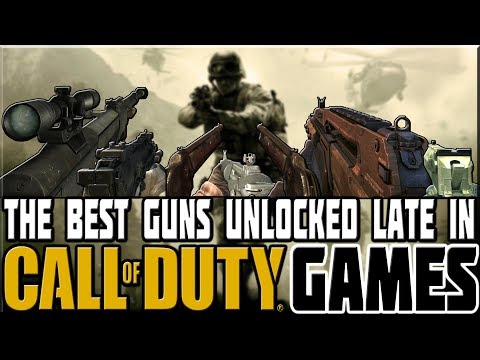 BEST GUNS UNLOCKED LATE IN CALL OF DUTY GAMES! thumbnail