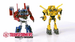 Transformers Bumblebee & Optimus Prime Weaponizer Class  Action Figure | Toy Review