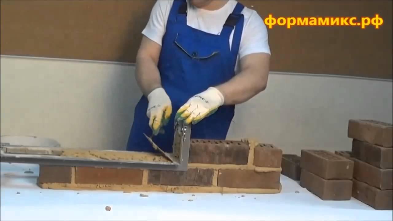 Как сделать шаблон для кладки кирпича своими руками 1