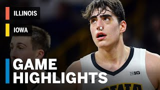 Highlights: Illinois at Iowa | Big Ten Basketball