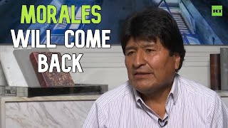Bolivia's ousted Morales hints at returning