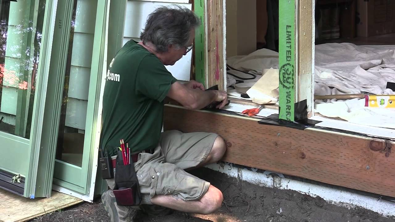 Installing Exterior Doors U0026 Windows: Preparing The Sill   YouTube Part 32
