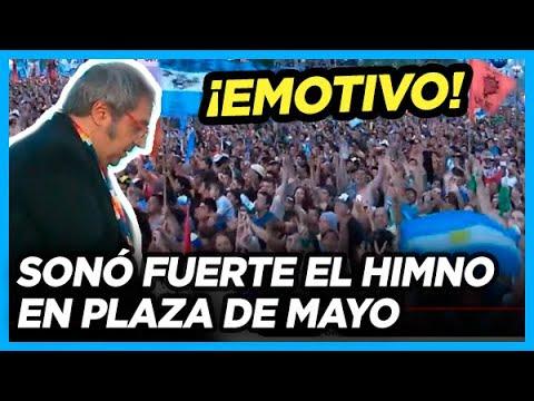 EL HIMNO MÁS ESPERADO! Estalló en Plaza de Mayo y resonó en todo el país
