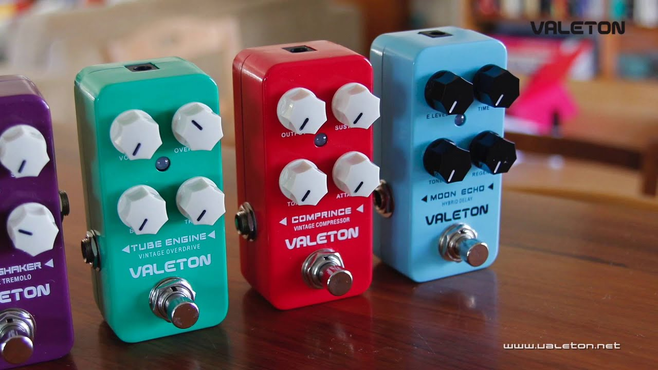 valeton coral series pedals preview demo youtube