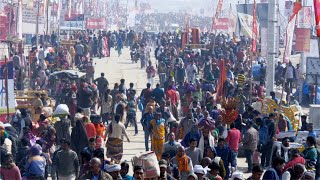 Millions of Hindus attending the Prayagraj Kumbh Mela 2019 - Indian festival