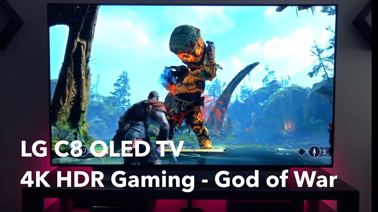 LG C8 OLED 4K HDR Gaming God of War Gameplay [4K]