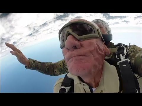 Frosty - 98-year-old veteran is still leaping out of planes