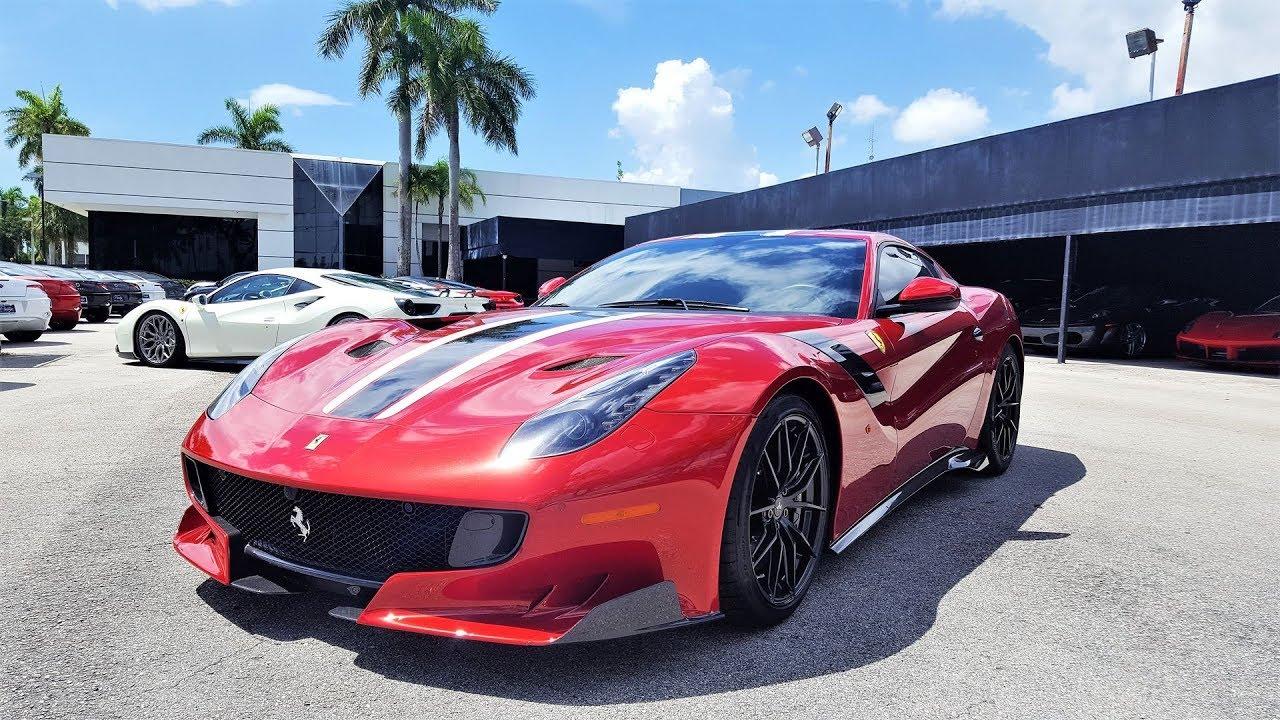 Ferrari F12 TDF Start up Interior Exterior walkaround at Prestige Imports  Miami