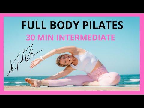 Pilates at Home Workout [30 Min Full body] Mat ClassNo Equipment
