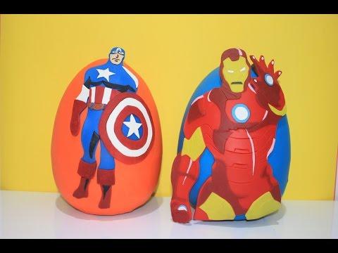 Captain America DEV Sürpriz Yumurta Oyun Hamuru Harika Kanatlar Disney
