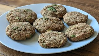 3 Ingredient Tuna Burger Recipe (Protein Packed!)